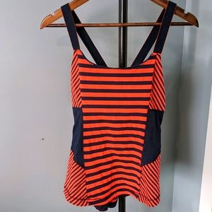 Lululemon Work it out tank Sea Stripe size 12